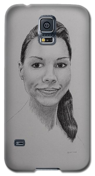 Galaxy S5 Case featuring the drawing A G by Daniel Reed