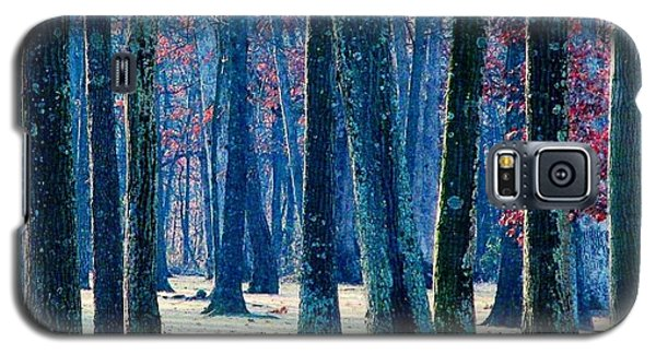 Galaxy S5 Case featuring the photograph A Gathering Of Trees by Angela Davies