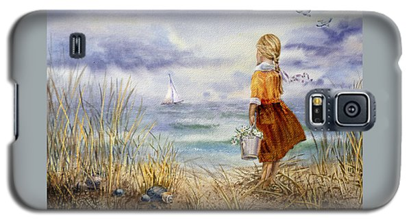 A Girl And The Ocean Galaxy S5 Case