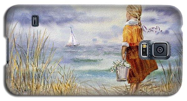 The Sky Galaxy S5 Case - A Girl And The Ocean by Irina Sztukowski