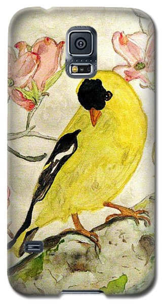 A Goldfinch Spring Galaxy S5 Case by Angela Davies