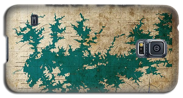 Vintage Map Print Lake Sidney Lanier Georgia Galaxy S5 Case