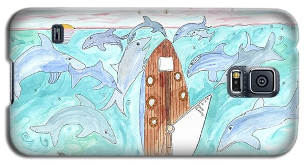 Galaxy S5 Case featuring the painting A Gull's View... by Helen Holden-Gladsky
