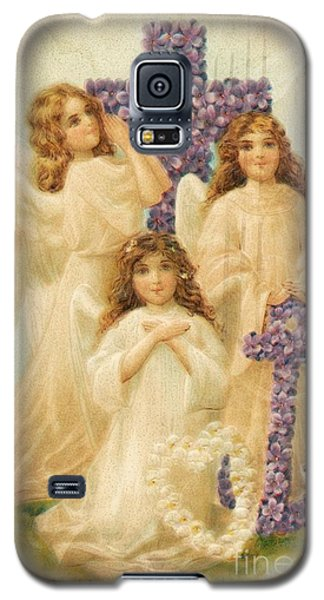 A Happy Easter 1908 German Postcard Galaxy S5 Case