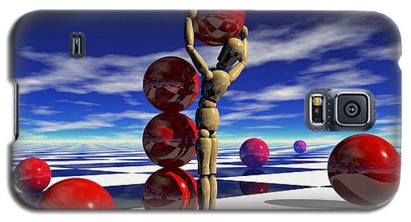 Galaxy S5 Case featuring the digital art A Hard Day's 'work by Sandra Bauser Digital Art