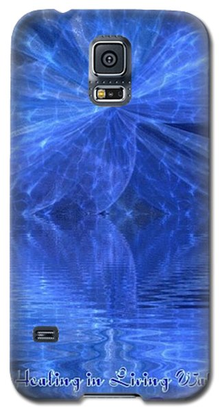 Galaxy S5 Case featuring the painting A Healing In Blue Living Waters by Ray Tapajna