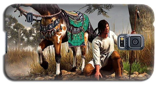 A Hunter And His Horse Galaxy S5 Case by Daniel Eskridge