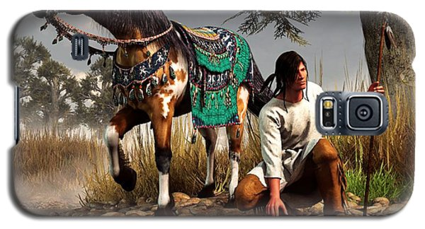 A Hunter And His Horse Galaxy S5 Case