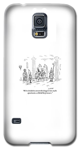 Dungeon Galaxy S5 Case - A King And Queen In The Royal Court Give Orders by David Sipress