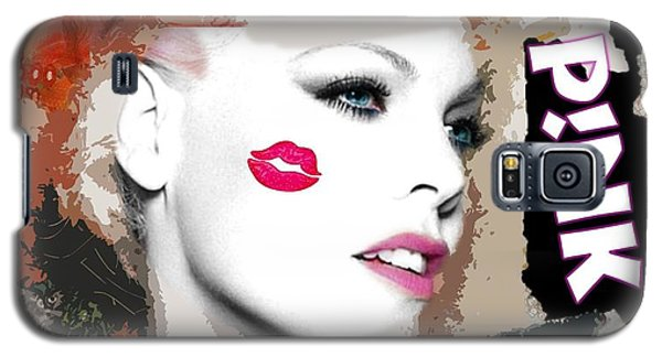 Galaxy S5 Case featuring the digital art A Kiss On The Cheek by Catherine Lott