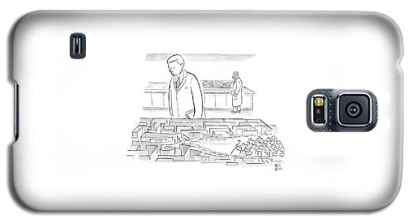 A Laboratory Scientist Looks On As The Walls Galaxy S5 Case by Paul Noth
