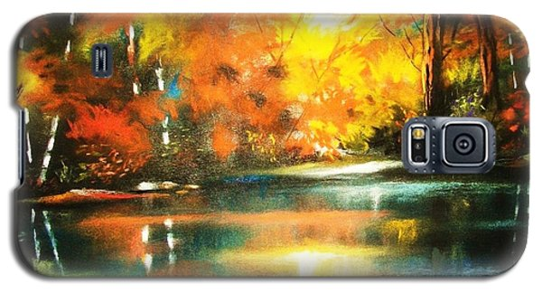 Galaxy S5 Case featuring the painting A Light In The Forest by Al Brown