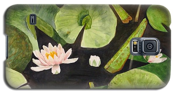 Galaxy S5 Case featuring the painting A Lily Pond by Nancy Kane Chapman