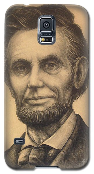 Galaxy S5 Case featuring the drawing A. Lincoln by Bob  George