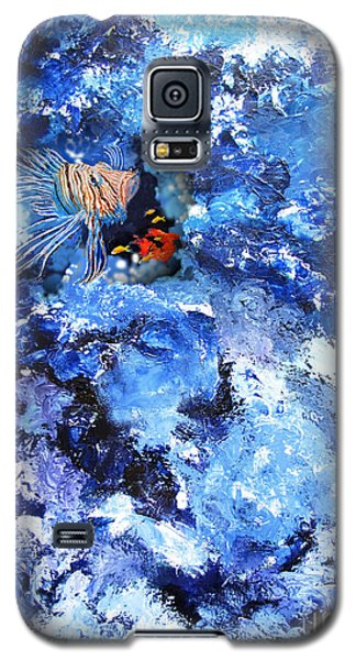 A Lion Out Of The Coral Galaxy S5 Case by Gary Smith