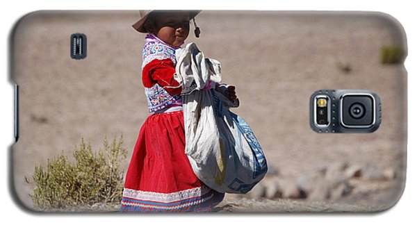 A Little Girl In The  High Plain Galaxy S5 Case