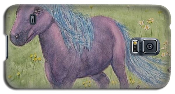 Galaxy S5 Case featuring the painting A Little Girls Imagination Pony by Kelly Mills