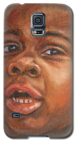 Galaxy S5 Case featuring the painting A Little New Yorker by Xueling Zou