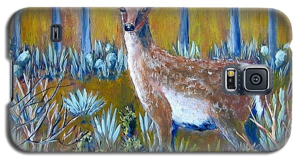 Galaxy S5 Case featuring the painting A Little Rough Around The Edges by Suzanne Theis
