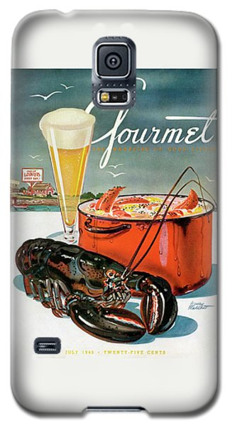 A Lobster And A Lobster Pot With Beer Galaxy S5 Case by Henry Stahlhut