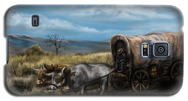 A Long Journey - Covered Wagon On The Prairie Galaxy S5 Case