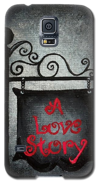 A Love Story No 10 Galaxy S5 Case by Oddball Art Co by Lizzy Love
