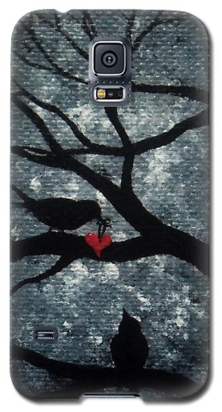 Galaxy S5 Case featuring the painting A Love Story No 7 by Oddball Art Co by Lizzy Love