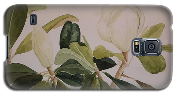 Galaxy S5 Case featuring the painting A Magnolia Duet by Nancy Kane Chapman
