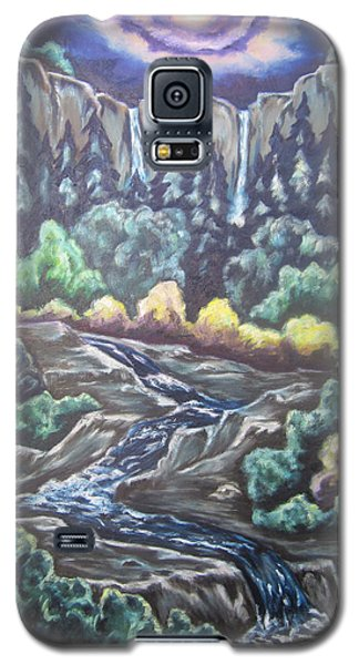 Galaxy S5 Case featuring the painting A Majestic World by Cheryl Pettigrew