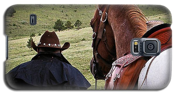 Galaxy S5 Case featuring the photograph A Man And His Horse II by Steven Reed