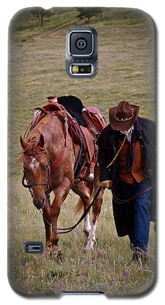 Galaxy S5 Case featuring the photograph A Man And His Horse by Steven Reed