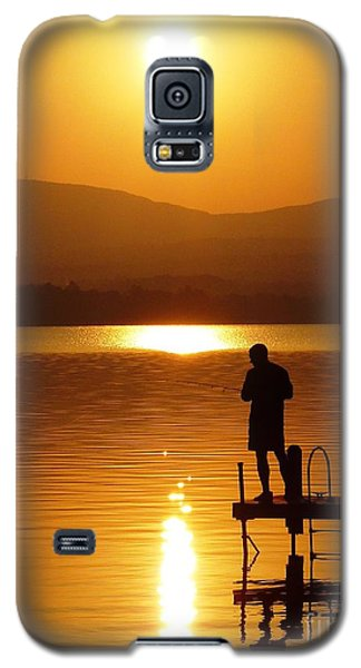 Galaxy S5 Case featuring the photograph A Man And His Thoughts  by Mike Ste Marie