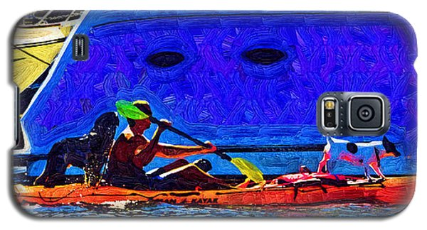 A Man His Kayak And His Dogs Galaxy S5 Case by Kirt Tisdale