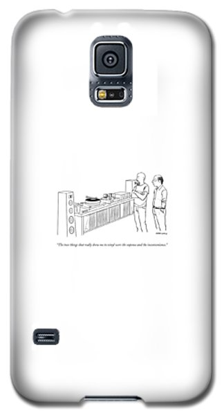 A Man Shows Another Man His Extensive Collection Galaxy S5 Case