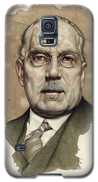 Galaxy S5 Case featuring the painting A Man Who Used To Be A Big Cheese by James W Johnson