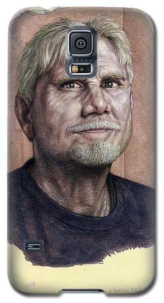 Galaxy S5 Case featuring the painting A Man Who Used To Be A Serious Artist by James W Johnson