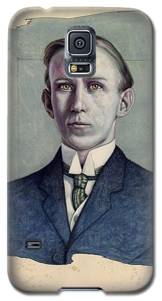 Galaxy S5 Case featuring the painting A Man Who Used To Be Somebody To Someone by James W Johnson