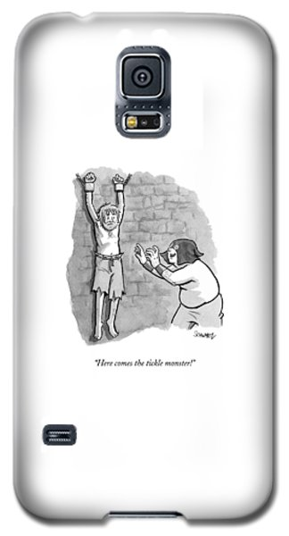 Dungeon Galaxy S5 Case - A Medieval Torturer Approaches A Hanging by Benjamin Schwartz