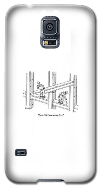 Escher Get Your Ass Up Here Galaxy S5 Case
