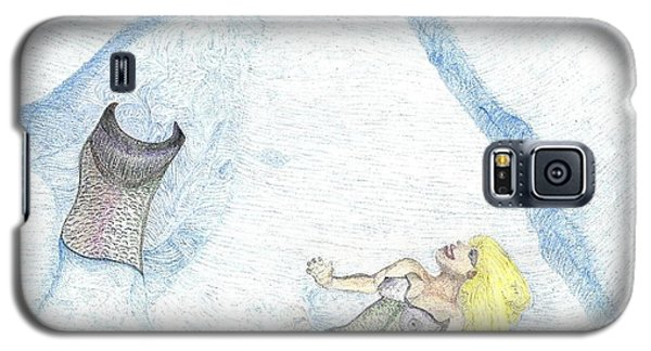 Galaxy S5 Case featuring the drawing A Mermaids Moment by Kim Pate