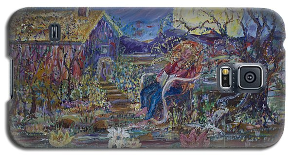 Galaxy S5 Case featuring the painting A Nap By The Lily Pond by Avonelle Kelsey