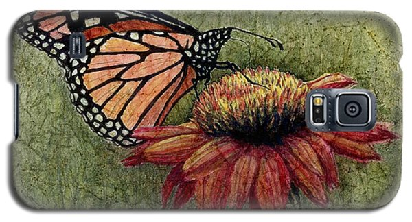 Galaxy S5 Case featuring the painting A New Creation From A Butterfly In My Garden by Janet King