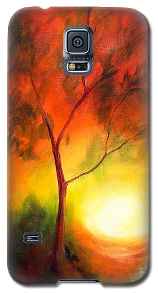 Galaxy S5 Case featuring the painting A New Day by Alison Caltrider