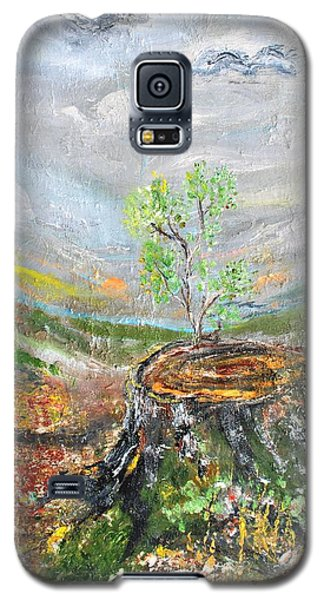 Galaxy S5 Case featuring the painting A New Day by Evelina Popilian