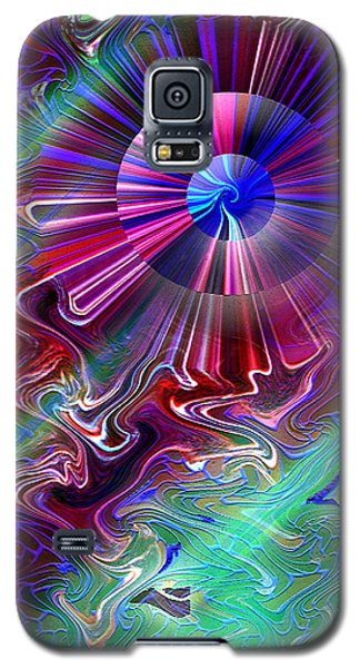 Galaxy S5 Case featuring the mixed media A New Thought by Carl Hunter