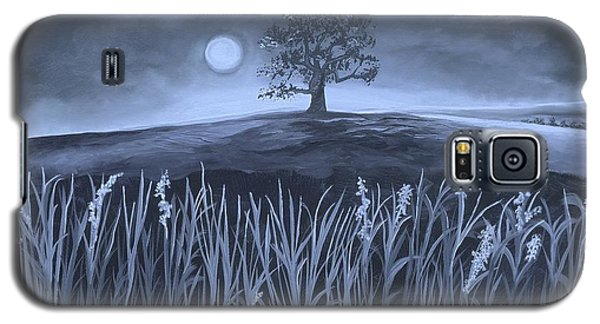 Galaxy S5 Case featuring the painting A Night At The Plains by Nereida Rodriguez