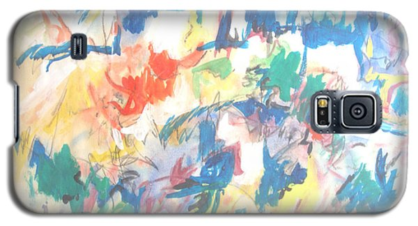 Galaxy S5 Case featuring the painting A Pastoral Abstract by Esther Newman-Cohen