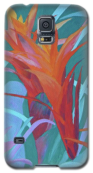 Galaxy S5 Case featuring the painting A Pattern Of Bromeliads by Margaret Saheed