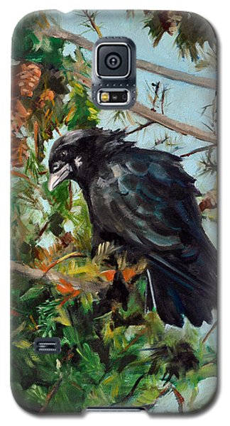 Galaxy S5 Case featuring the painting A Perch For Nevermore by Pattie Wall
