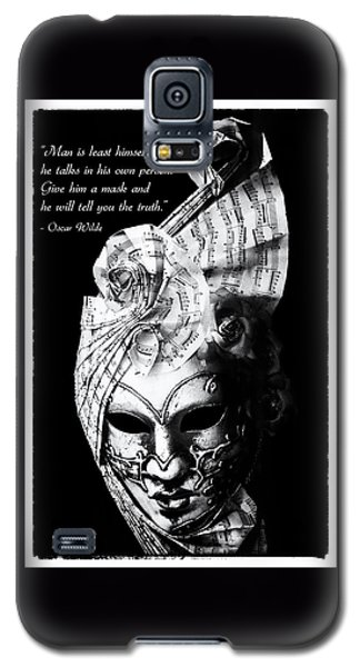 A Picture Of A Venitian Mask Accompanied By An Oscar Wilde Quote Galaxy S5 Case